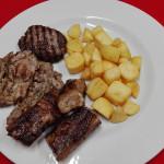 grigliata di maiale con patate